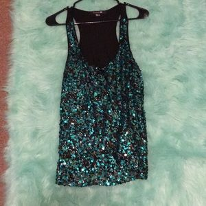 Tops - Forever 21 sequins tank